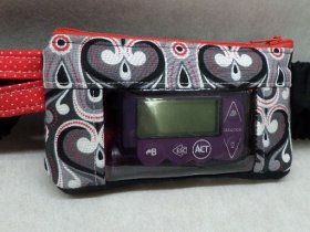 New Heart Damask Insulin Pump Case Optional Window