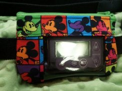 Pop Art Mouse Insulin Pump Pouch