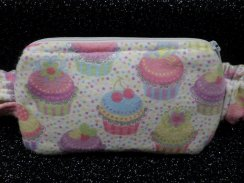 Glitter Cupcakes Insulin Pump Pouch Case - Flannel pump pouch