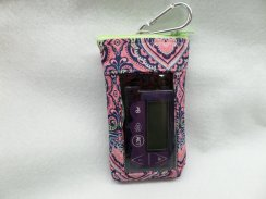 Vertical Insulin Pump Pouch Choice of Fabrics