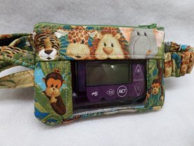 Baby Jungle Animals Window Insulin Pump Pouch