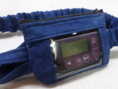 Dark Blue Tonal Insulin Pump Pouch For Boys