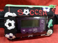 Soccer Insulin Pump Case Pouch Optional Window