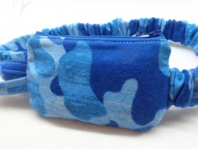 Blue Camo Insulin Pump Pouch Case