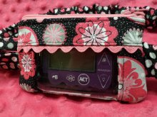 Glitter Midnight Medallion Insulin Pump Pouch For Girls
