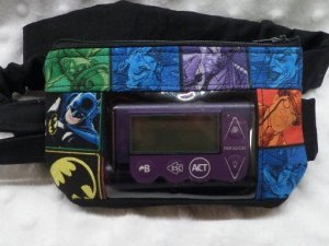 Batman Window Insulin Pump Pouch Argyle| Boys Pump Pouch