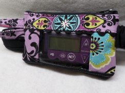 Purple Black Med Insulin Pump Case with Optional Window