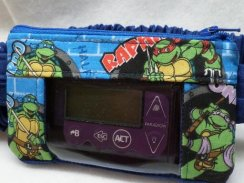 Ninja Turtles in Blue Insulin Pump Pouch Optional Window