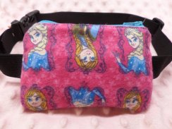 Anna Elsa Portraits Insulin Pump Pouch Case for Girls