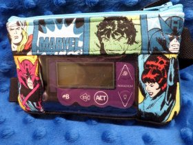 Superhero Blocks Insulin Pump Pouch Optional Window