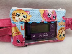 Shopkins on Blue Insulin Pump Pouch Case For Girls