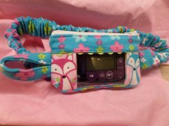 Foxes Insulin Pump Pouch Case in Flannel