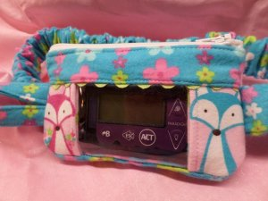 Foxy Floral Window Insulin Pump Pouch For Girls