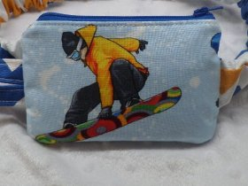 Snowboarding Fun Insulin Pump Pouch Pack For Sports | pump case