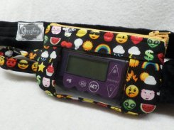 Emoticon Insulin Pump Case For Kids with Optional Window