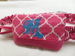 Hot Pink Moroccan Insulin Pump Pouch Personalized w/Pin Dot