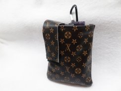 LV Inspired Designer Faux Leather Vertical Insulin Pump Pouch