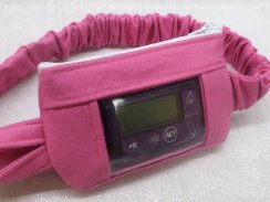 Hot Pink Insulin Pump Pouch with Optional Window