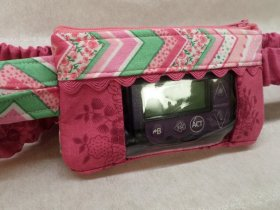 Chevron Trim Insulin Pump Pouch Window Optional