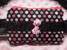 Dazzling Dots Insulin Pump Pouch Case Diva Kitty| Fun Pump Pouch