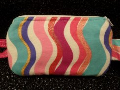 Funky Glitter Stripes Insulin Pump Case | Fun Pouch For Girls