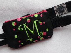 Funky Dazzling Dots Insulin Pump Case w Monogram