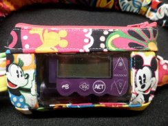 Insulin Pump Case V Bradley Midnight with the Mouse