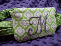 Moroccan Green Apple & Purple Insulin Pump Case
