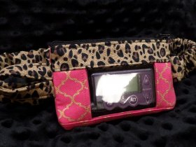 Pink Gold Moroccan w Cheetah Insulin Pump Pouch