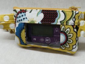 Jasmine Funky Floral Insulin Pump Case with Optional Window
