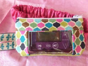 Multi-Color Ornamental Window Insulin Pump Pouch Case
