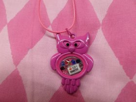 Owl in Hot Pink Type 1 Diabetes Medical Alert Floating Necklace