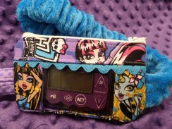 Monster High Insulin Pump Pouch Case in Purple & Turquoise