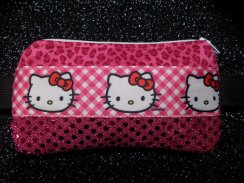 Pink Insulin Pump Case Sequin Kitty Insulin Pump Accessories