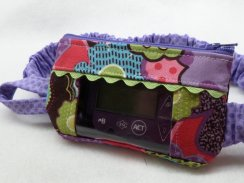 Funky Floral Window Insulin Pump Pouch