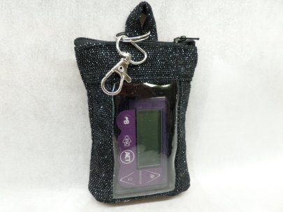 Black Holiday Sparkle Vertical Insulin Pump Pouch Minimed