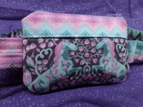 Pony Damask & Chevron Insulin Pump Pouch Case For Girls