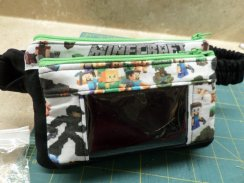 Dual Zip Pockets Case for Insulin Pump & Dexcom Iphone -