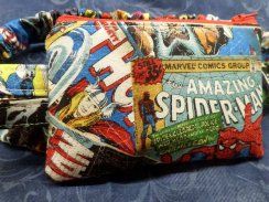 Marvel Comic Books Toss Insulin Pump Pouch Optional Window