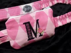 Glamour Monogram Harlequin Insulin Pump Pouch Case
