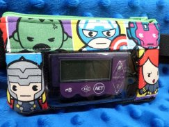 Kawaii Superheros Window Insulin Pump Case