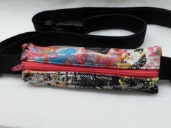 Dazzling Tie Dye Sparkle Slim Fit Insulin Pump Belt Spandex