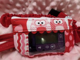Colorful Owls Insulin Pump Pouch Case