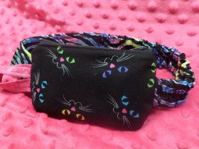 Bright Kitty Faces Insulin Pump Case Pouch For Kids