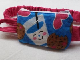 Cookies n Milk Bedtime Insulin Pump Pouch Case in Flannel