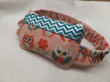 Owls Insulin Pump Pouch in Georgia Peach & Aqua