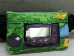 Mining Pixel Gaming Window Insulin Pump Pouch