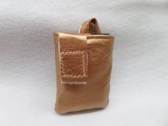 Rose Gold Faux Leather Vertical Insulin Pump Pouch