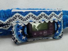 Blue Medallian & Chevron Scroll Insulin Pump Pouch Case
