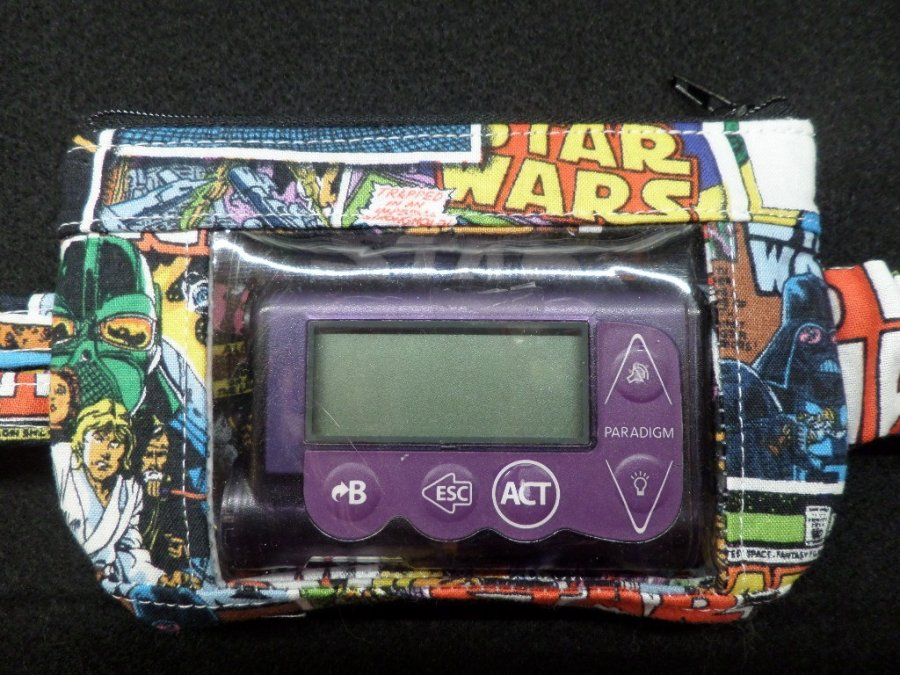Star Wars Window Insulin Pump Pouch Case For Boys - Click Image to Close